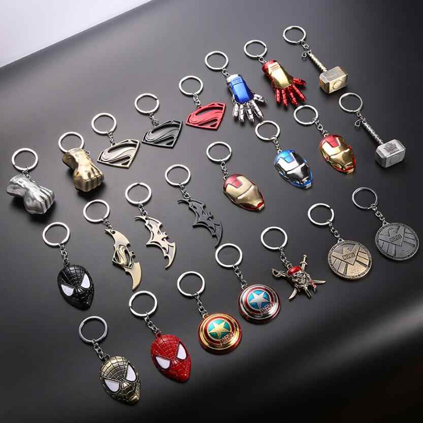 Marvel Avengers Thor Hammer Metal Keychain Toys Infinity War Ironman Spiderman Batman Captain Marvel Key Chians Metal Toys