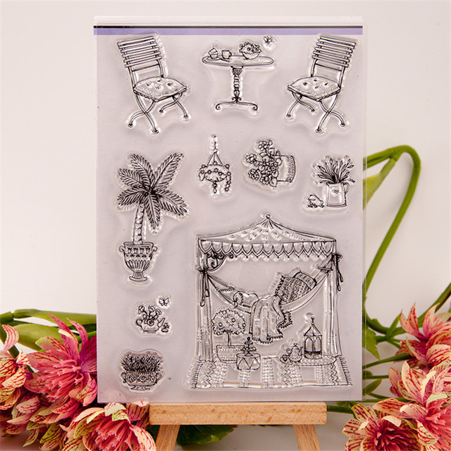 About Garden Flowers Silicon Stamps Scrapbooking Stamp For Kids Diy