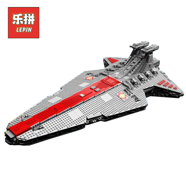 N STOCK Lepin 05077 6125Pcs Gift The UCS Rupblic Star Destroyer Cruiser ST04 Set Building Blocks Bricks Toys lepin 05077 stars series war the ucs rupblic set star destroyer model cruiser st04 diy building kits blocks bricks children toys