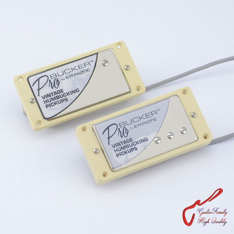 1 Set  Original Genuine Epi Standard PRO Electric Guitar Alnico Humbucker Pickup  Nickel Cover 1 set guitarfamily alnico pickup for casino jazz guitar nickel cover made in korea