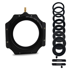 """100mm Square Z series Metal Filter Holder+Adapter Ring for Lee Hitech Singh Ray Cokin Z PRO 4X4""""4x5""""4X5.65""""Filter"""