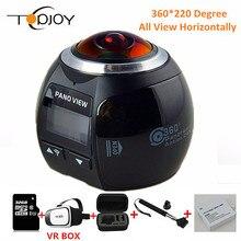 360การกระทำกล้องขนาดเล็กWifiกล้องพาโนรามา2448*2448 UHDพาโนรามากล้อง360องศากันน้ำกีฬามากขับรถVRกล้อง