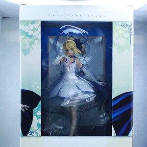 Image 5 - Japońskie Anime figurka los/pobyt noc wielkie zamówienie ALTER noc szabla biała sukienka rysunek PVC 27cm kolekcja modeli doll