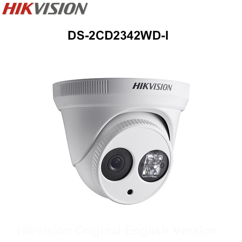 In Stock Hikvision Original English Version Security Camera DS-2CD2342WD-I 4MP WDR EXIR IP Camera POE CCTV Camera IP67 3D DNR