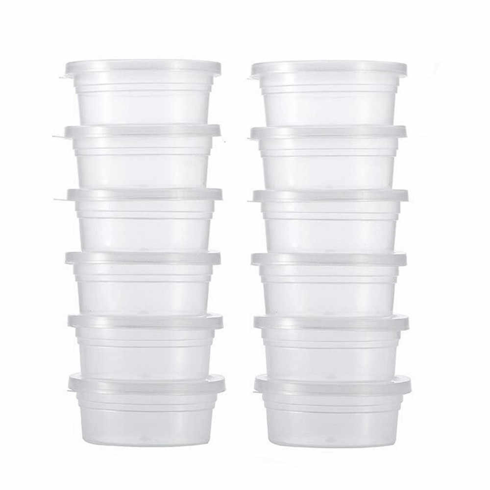 12Pcs slime storage containers reusable washable   Foam Ball Storage Cups  case Containers With Lids Housekeeping Organizers