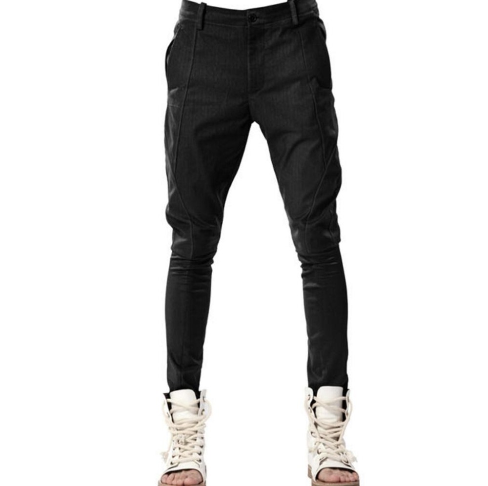 Tight pants male hairdresser pants font b leggings b font men harem feet pants men Casual