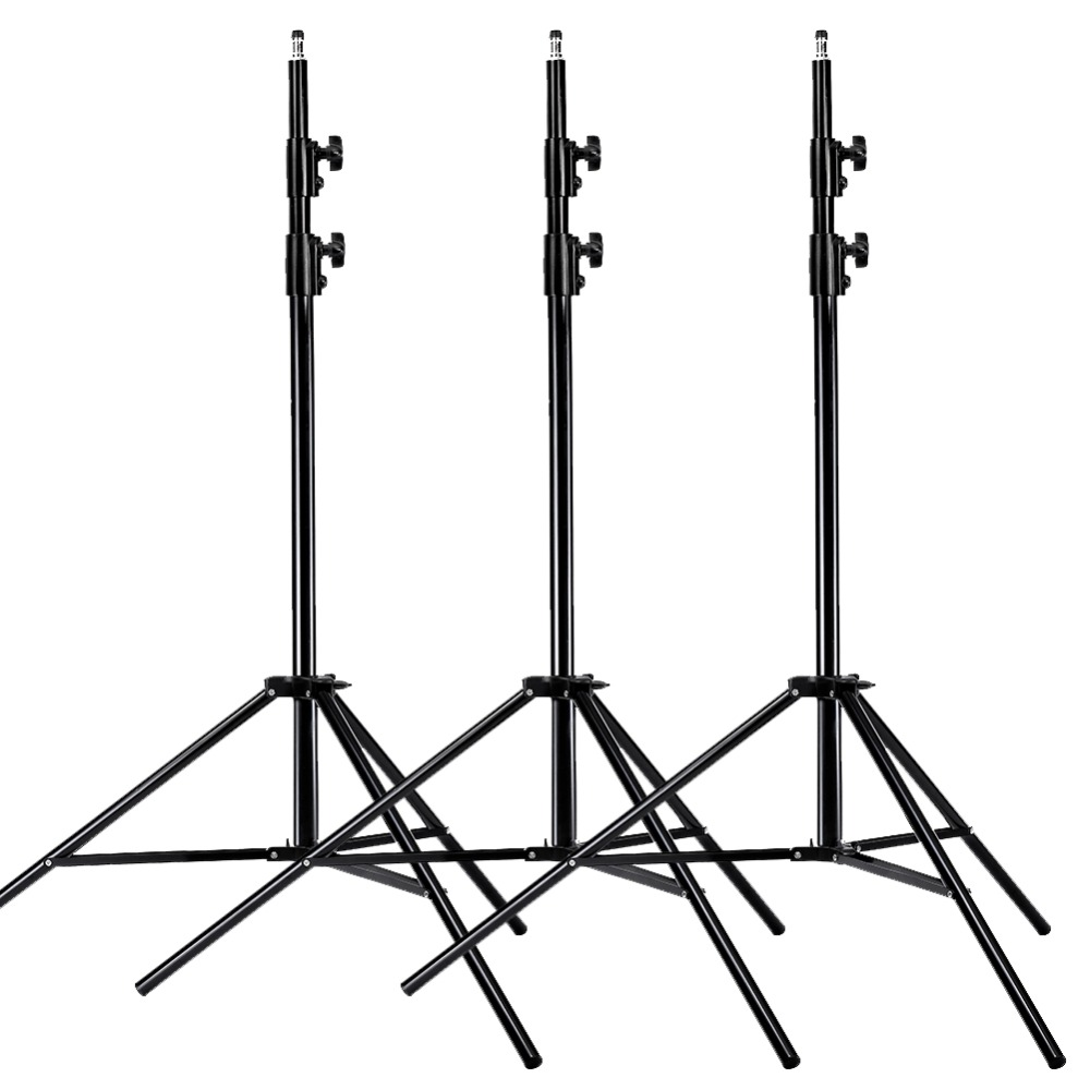 Neewer PRO 9 Feet/260cm Heavy Duty Aluminum Alloy Photography Photo Studio Light Stands Kit For Video/Photography Lighting(3PCS)
