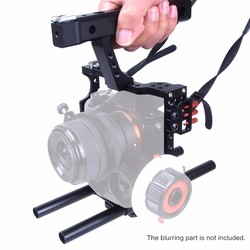 Handle Grip Video Stabilizer DSLR Rod Rig Camera Video Cage Kit Shoulder Mount Rig For Sony A7 A7r A7s II A6300 GH4 Steadicam