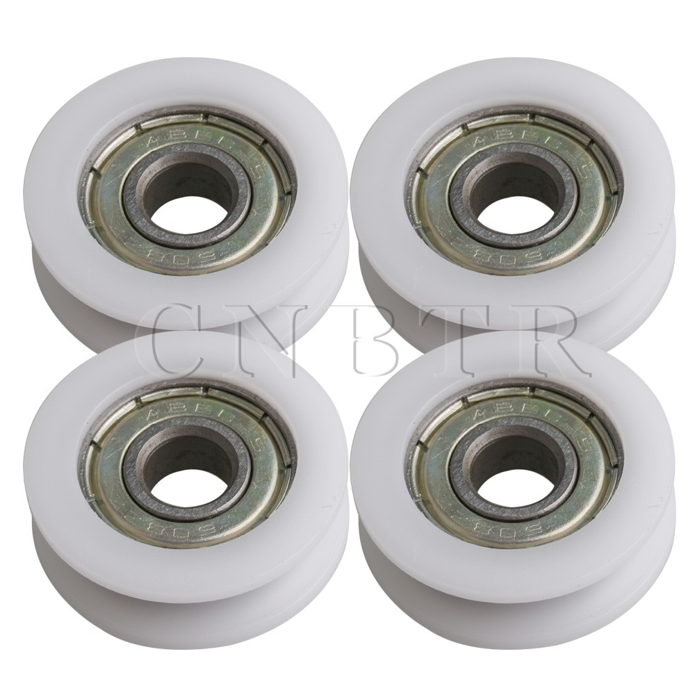 6.4x38x8.3mm U Groove Sealed Ball Bearing Wire Rope Track Guide Pulley Bearing