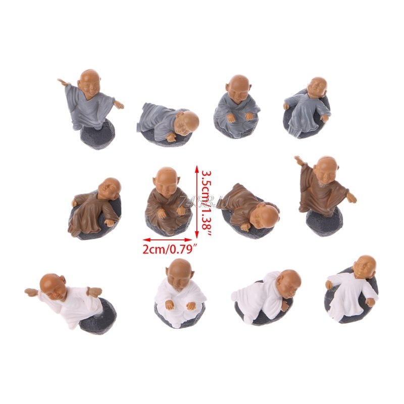Monk Figure Ornaments Kung Fu Doll Toy Mini Dollhouse Bonsai Garden Decor Gift G06 Drop ship