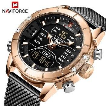 NAVIFORCE 9153 Men Military Waterproof LED Quartz Sport Watch with box
