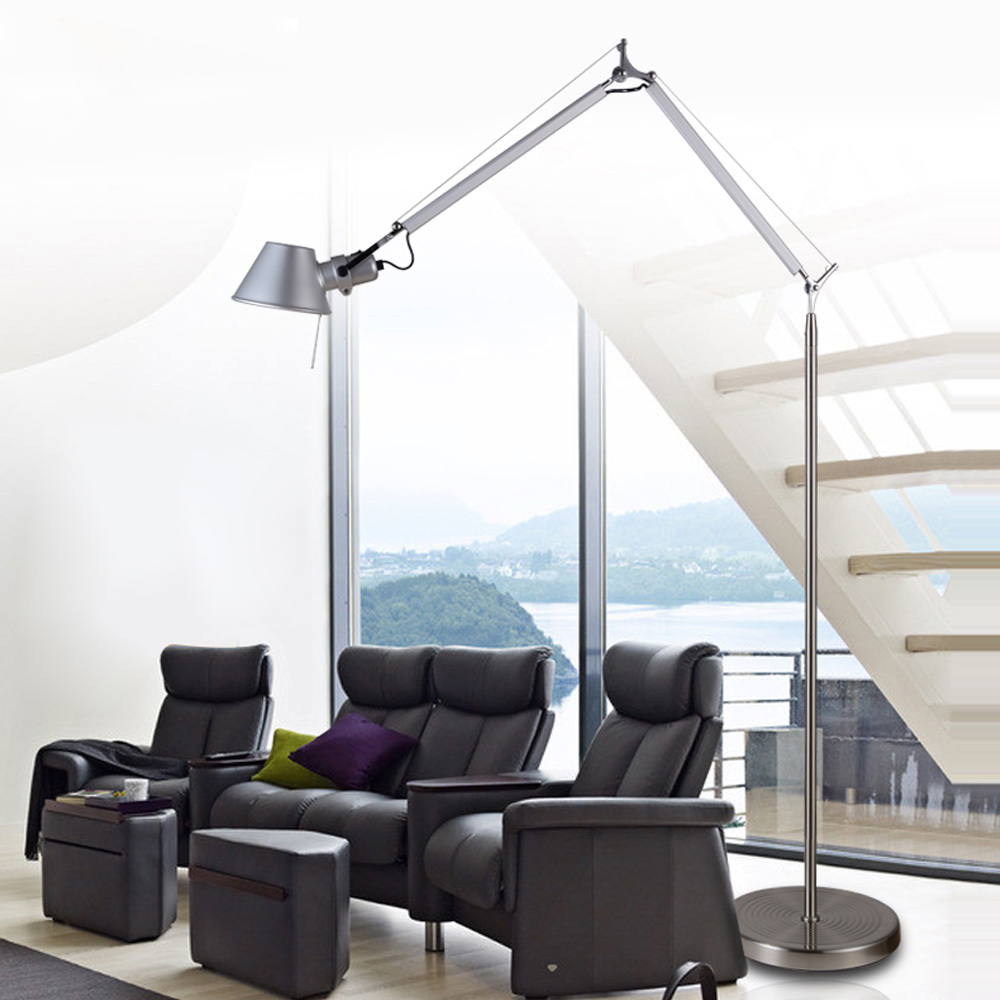 Minimalistic Floor Lamp 1.5M Aluminum Hat Shape Office Lighting ...