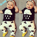 2016 Latest Cute Organic Infant Boy Outfits tshirts + Pants Leggings Sets Clothes Suit 2 Pc Bodysuit Baby Boy Clothes