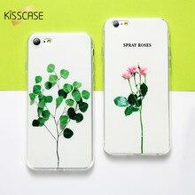 Здесь можно купить   KISSCASE 3D Case For iPhone 6 7 8 plus Case Relief Leaf Cute Plant Flower Phone Cases For iPhone 5S 5 SE Coque For iPhone X Case Mobile Phone Accessories & Parts
