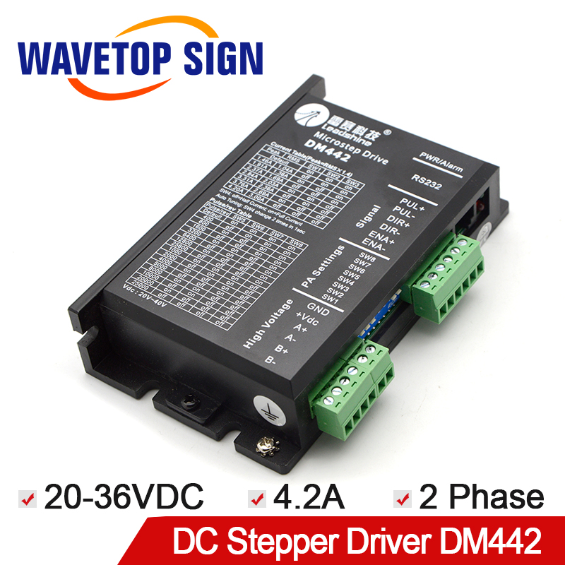 Free Shipping Leadshine 2 Phase Stepper Driver DM442 for Digital Stepping Motor 57HS09 DC20-36V Current 4.2A free shipping leadshine dm442 cnc router 2 phase digital stepper motor driver 40v dc 4 2a 200 khz for 57 motor sm357 sd