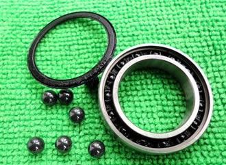 697 2RS Size 7x17x5 Stainless Steel + Ceramic Ball Hybrid Bearing Fishing Reel Bike Bearing 6008 2rs size40x68x15 stainless steel ceramic ball hybrid bike bearing s6008 2rs