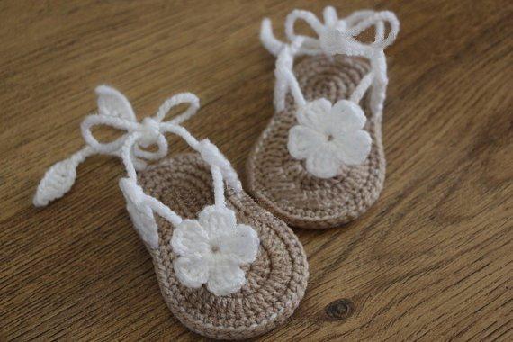 Tienda Online Envío libre, sandalias del bebé del ganchillo ...