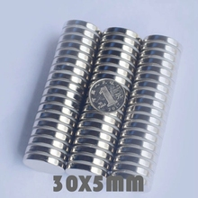 10/30/50pcs 30x5 mm Super Powerful Neodymium Magnets Free Shipping N35 30*5 mm Rare Earth Magnet Neodymium Magnets For Crafts ledere 50pcs 30mmx5mm strong round magnets dia 30x5 neodymium magnet rare earth magnet 30 5 magnet 30x5mm 30 5mm