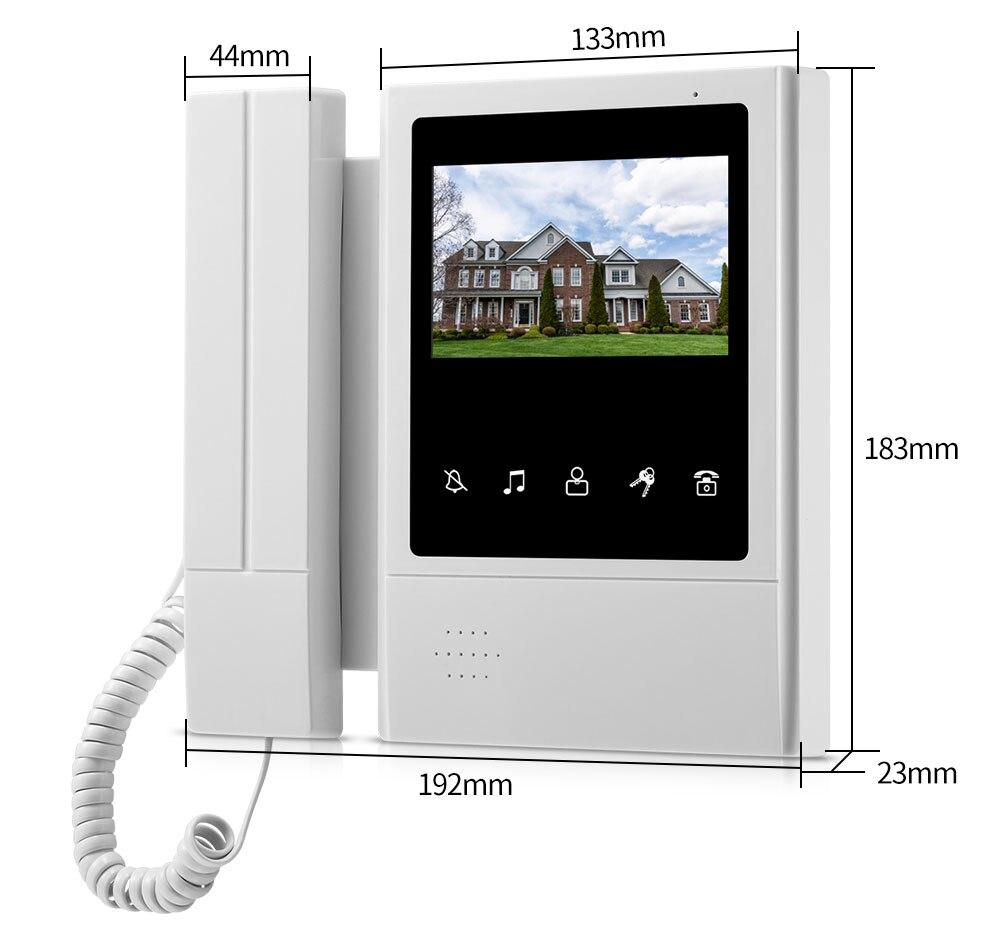 porta telefone campainha intercom sistema monitor interno