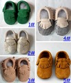 Retail 2016 New Baby Kids Suede Leather Baby Moccasins Soft Moccs Baby Shoes Chaussure Bebe Infant Firstwalkers