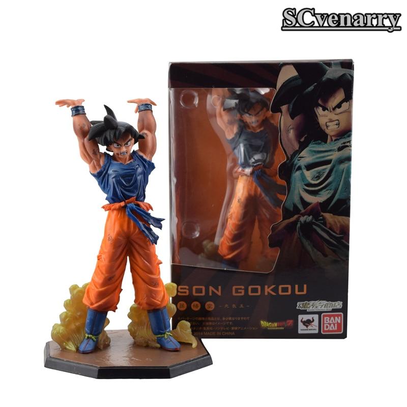 Anime Dragon Ball Z Son Gokou Genki Genki Damaspirit Bomb Ver Toys & Hobbies Pvc Action Figure Model Toy Boys Girls Christmas Gift 15cm