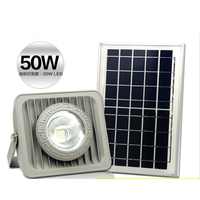 Solar Flood Light 50W Floodlight Billboard Outdoor LED Garden Roof Spotlight Square Parking Lot