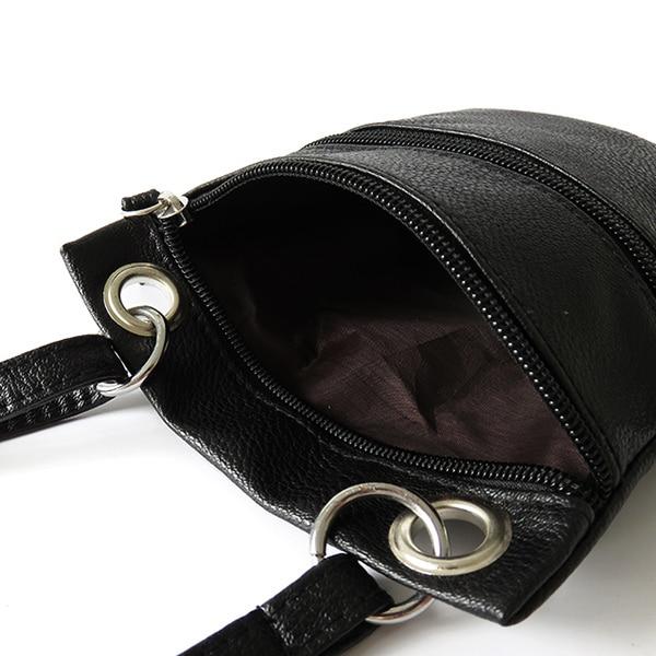 women PU leather messenger bags sling satchel crossbody shoulder bag tassel zipper vintage female mini small purse 2017 deisnger