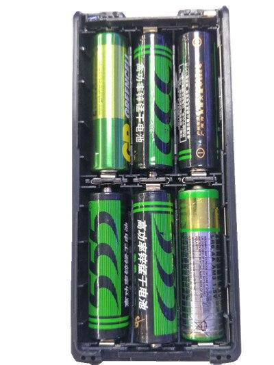 6*AA Radio Battery Pack Shell for ICOM V8 V82 Black two way radio cb radio telsiz Radio Battery Pack Shell