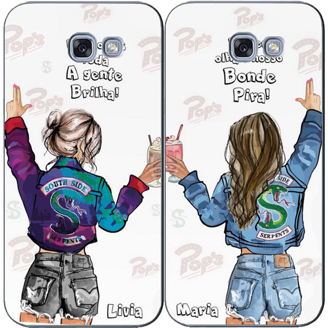 size 40 e69ab 7cd5f American TV Riverdale I'd Rather Be At Pop's BFF soft Silicone Phone Case  For Samsung Galaxy A3 2016 J3 A5 A7 J5 2015 J7 2017 EU