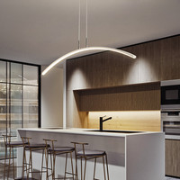Modern LED chandeliers Acrylic Lights Lamp For Dinning room Kitchen room Remote Control Dimmable Hanging Chandelier Fixture