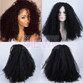 2017 New Popular Small Curly Heat Resistant Lace Front Wig Kinky Curly Hair Synthetic Wigs For African American Black Womans