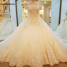 LS88982 special wedding dresses lace ball gown corset back wedding gowns 2017 robe de mariage real photos