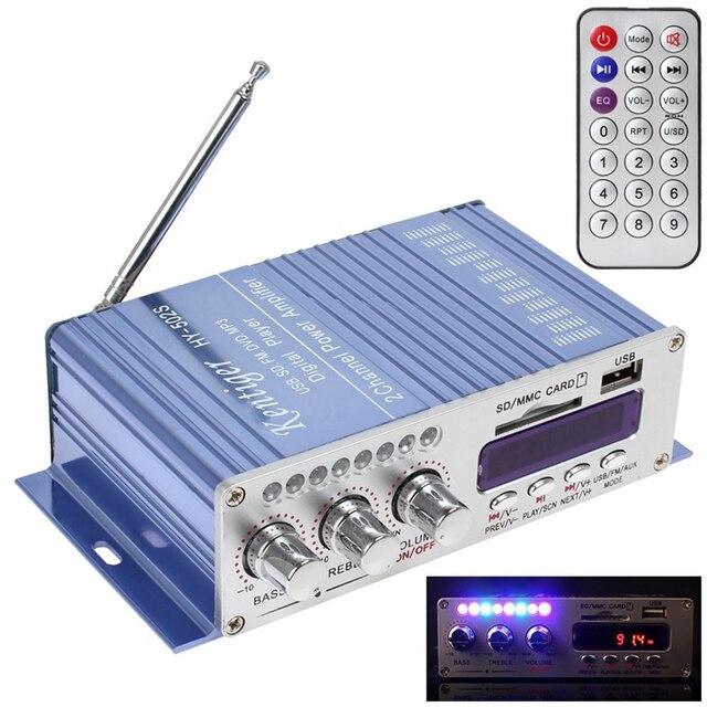 Best Offers Hot Sale HY-502 Amplifiers USB FM Audio Car Stereo Amplifier Radio MP3 Speaker LED Hi-Fi 2 Channel Digital Display Power Player