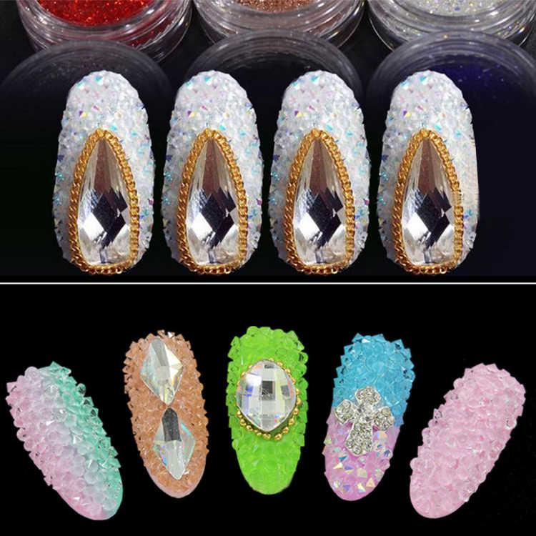 1.1mm-1.6mm стразы Mini Pixie Steentjes Niet Hotfix Rhinestone Micro Zirkoon Glitter Strass Mini Nail Art Decoraties b3191