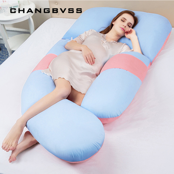 Maternity Waist Abdomen Support Pillow for Side Sleepers Pregnant Women Large Size U Body Pillows Breastfeeding Nursing Cushions