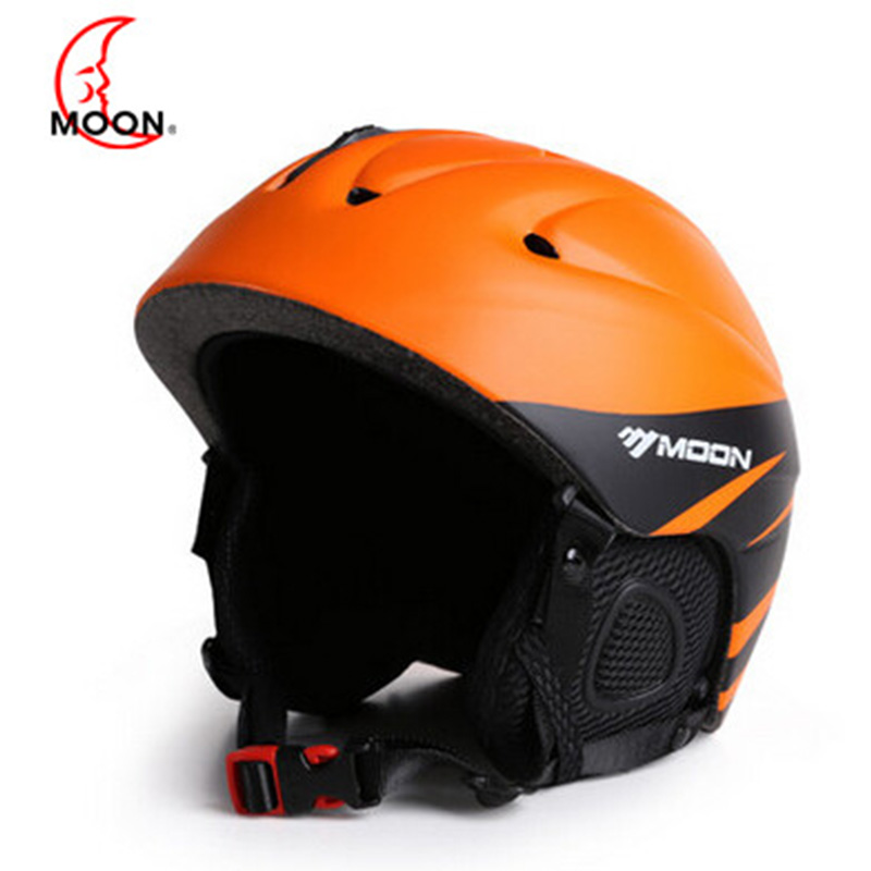 MOON Newest Style Ski Helmet Professional Skiing Sports Snow Safety Good Quality Helmet For Men Outdoors Winter Ski Helmet MS86 brand name flexible flyer snow twist inflatble snow tube sports tube winter ski circle sledge twist for 2 person 2015 new style