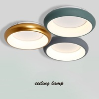 Зеленый/серый/белый/черный акрил современный светодио дный Люстра для гостиной спальня lamparas де techo colgante круглый потолочный Люстра