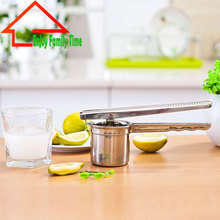 Free Shipping Hand Press Fruit Vegetable Tools Stainless Steel Lemon Squeezer Hot New Gadgets 2018 Fruit Juicer Kitchen Tool