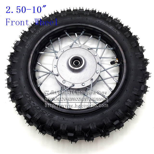 10 moto roues avant 10 polegada acier jantes 28 trous avec frein tambour hub pour. Black Bedroom Furniture Sets. Home Design Ideas
