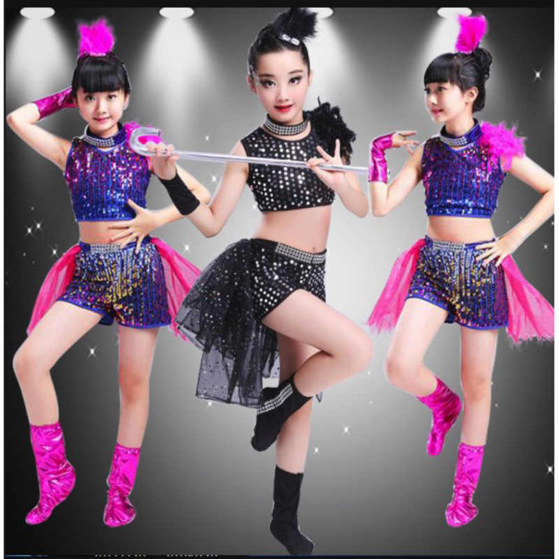 Children Boy Girl Dance Jazz Costume New Style Sequin Hip Hop Dance Jazz Wear Kids Dance Competitions Performance Stage Skirt Aliexpress