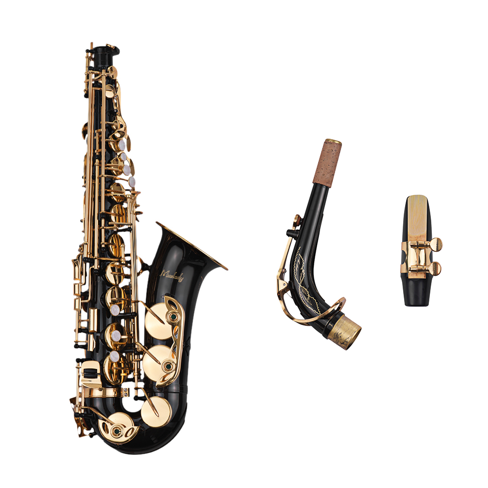 Muslady Eb Alto Saxophone Sax Brass Lacquered Gold 82Z Key Type Woodwind Instrument Padded Carry Case GlovesMuslady Eb Alto Saxophone Sax Brass Lacquered Gold 82Z Key Type Woodwind Instrument Padded Carry Case Gloves