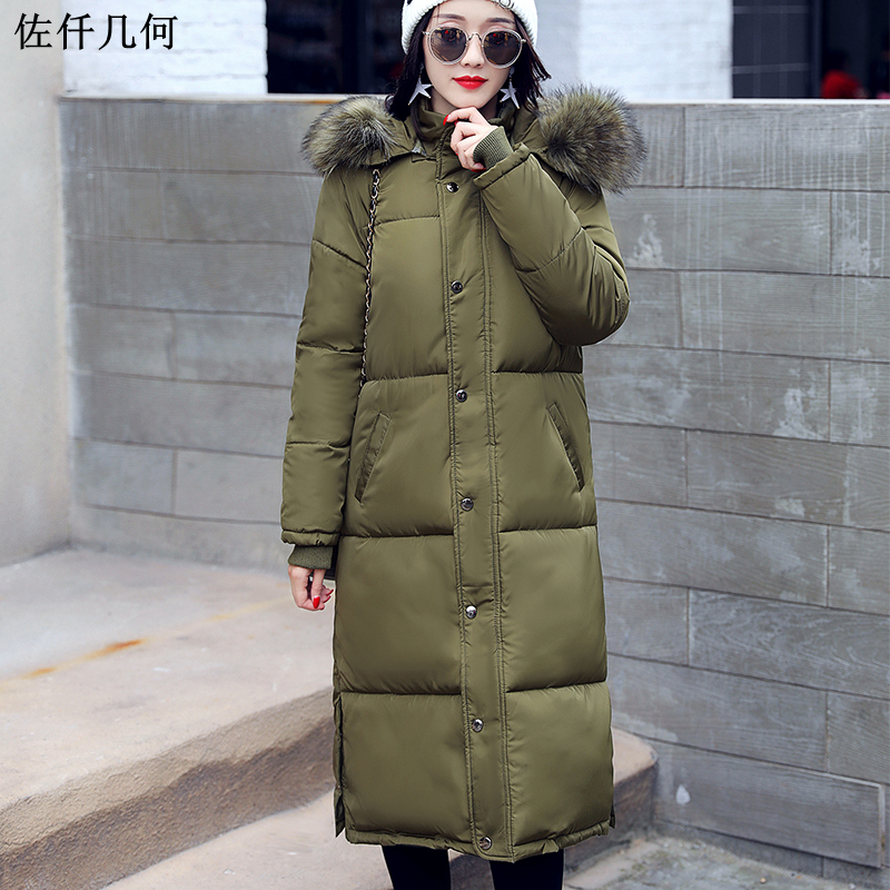 New 2017 women parkas cotton clothing thick warm jacket winter coat large fur collar women thickening coats M-2XL