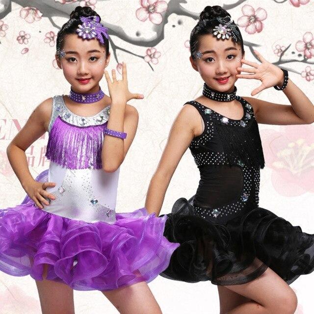 a179e7eed child kid children professional latin dance for sale dress girls patterns ballroom  dancing dresses kids rumba cha cha costumes