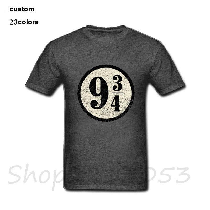 HTB1eC AaizxK1Rjy1zkq6yHrVXag - 2019 streetwear Platform nine three quarters Harryy Men funny T-Shirt black whtie clothes Potter male t shirt slipknot tshirt