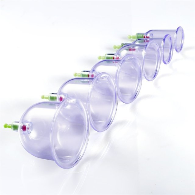 12 Cupping Therapy Cups Effective Healthy Chinese Medical Vacuum Cupping Suction Therapy Device Body Massager Set 2019