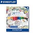 STAEDTLER 144 C24JB 24 цвета водорастворимый цветные карандаши для рисования цвет ручка  канцелярские принадлежности для офиса аксессуары для школь...