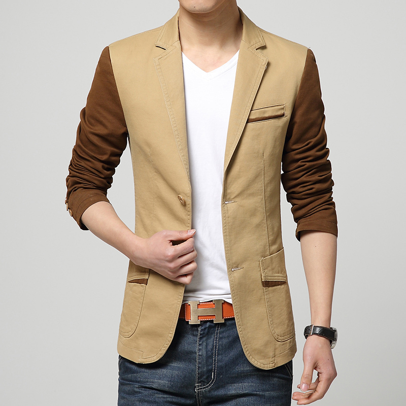 2016 New Arrival Blazer Men Autumn Fashion Long Sleeve Mens Casual Blazers Single Breasted ...