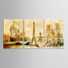 3 Pieces/set European city architecture Art Canvas Poster Painting Watercolor Picture Print for Modern Home Living Room Decor(China)