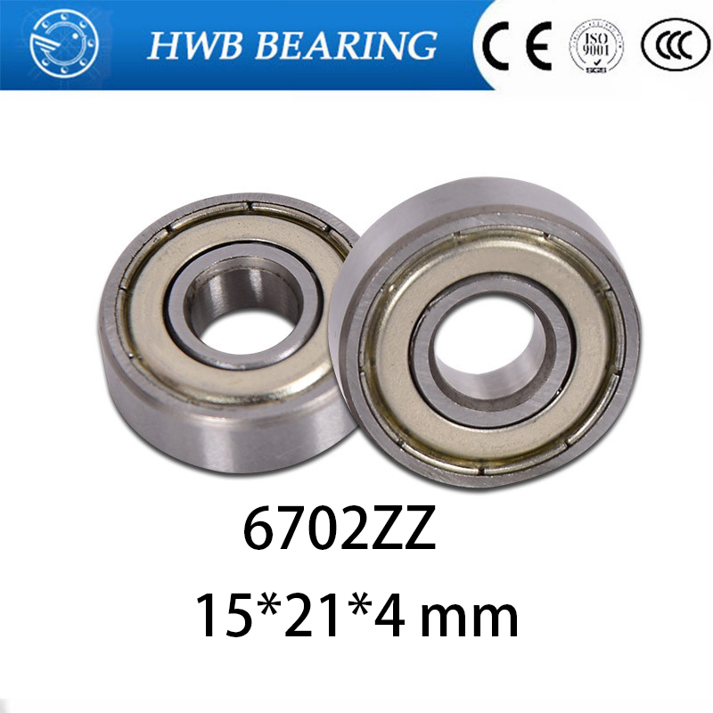10pcs Free Shipping The High Quality Of Ultra-thin Deep Groove Ball Bearings 61702ZZ <font><b>6702ZZ</b></font> 15*21*4 Mm image