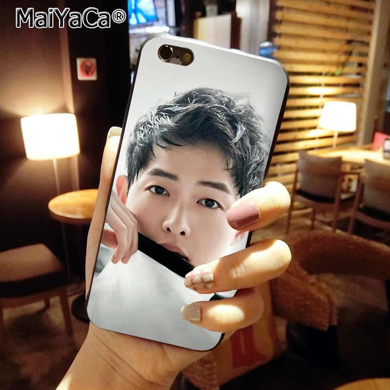 MaiYaCa потомок солнца SONG JOONG KI Высокое качество телефон Обложка для Apple iPhone 8 7 6 6 S плюс X 5 5S SE XS XR XS MAX